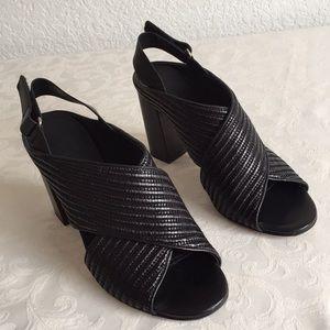 Vince black crisscross sandals